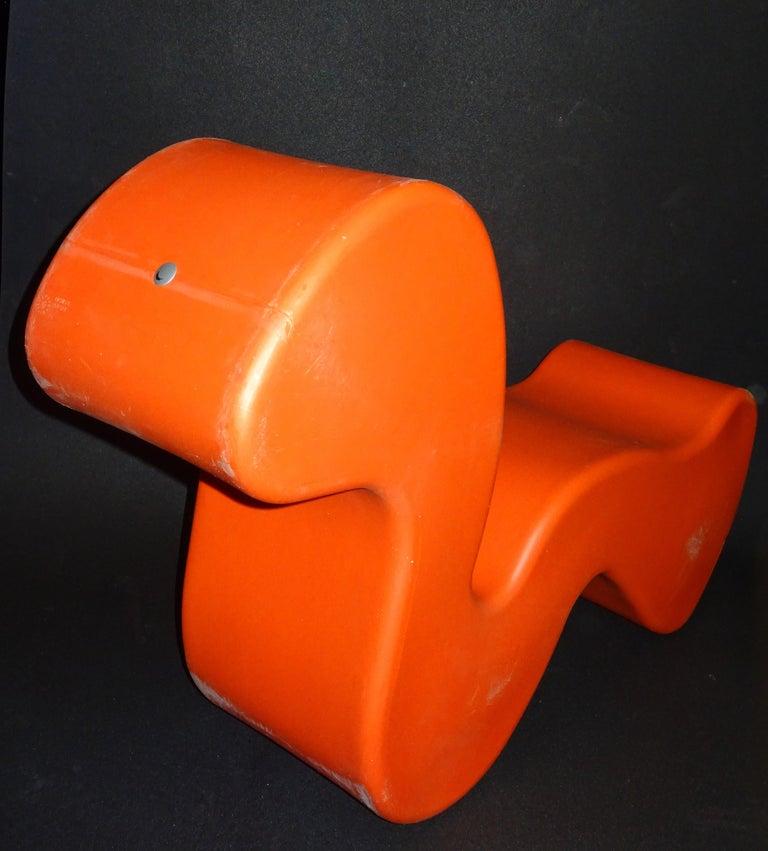 Verner Panton Orange Phantom Chair for Innovation Randers, circa 1998 For Sale 2