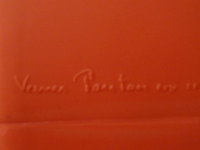 Hand-Crafted Verner Panton Orange Phantom Chair for Innovation Randers, circa 1998 For Sale
