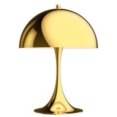 Verner Panton Panthella Mini LED Table Lamp in Brass for Louis Poulsen