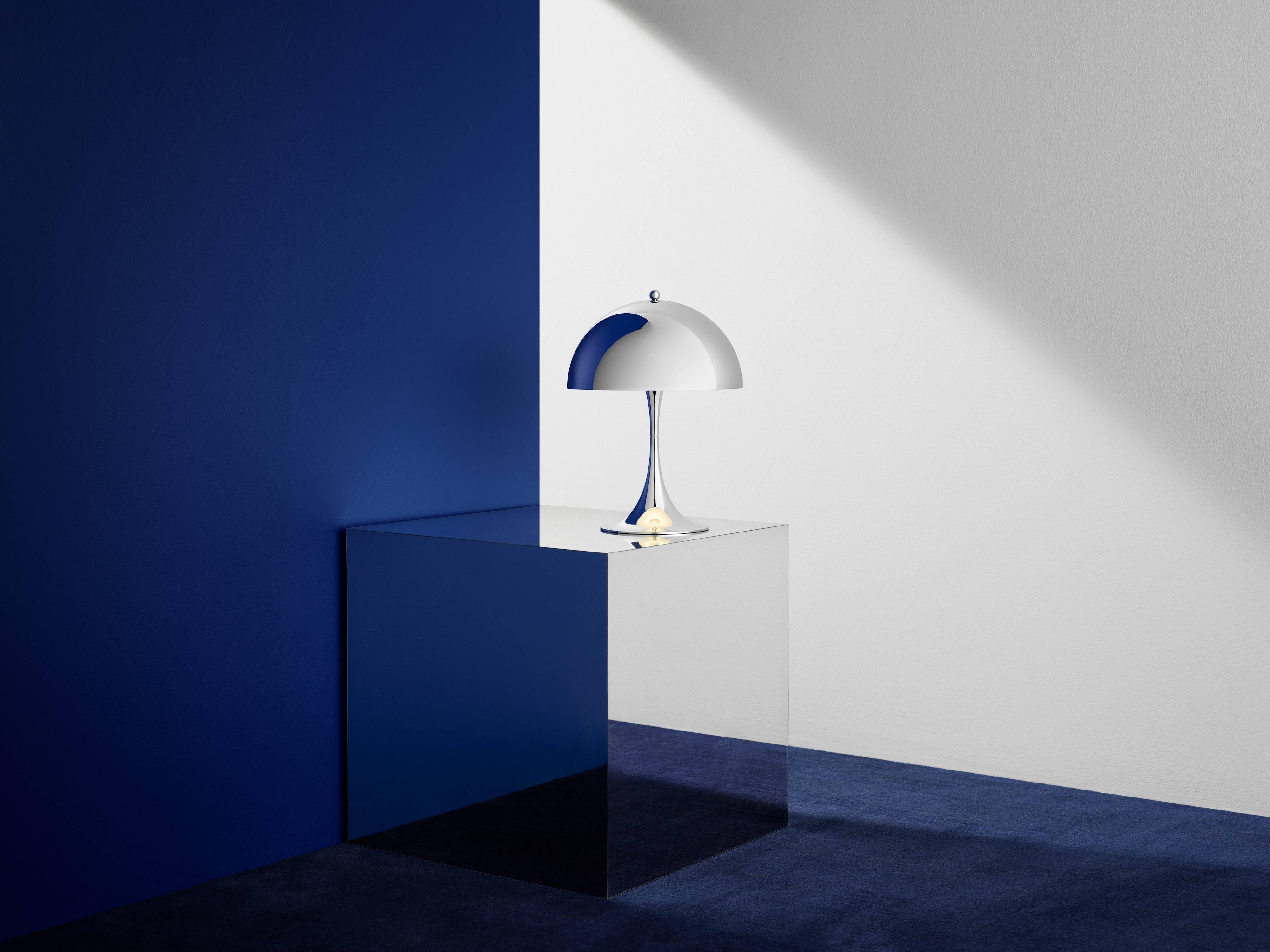 Verner Panton U0027Panthella Miniu0027 Table Lamp In Chrome For Louis Poulsen. The  Panthella