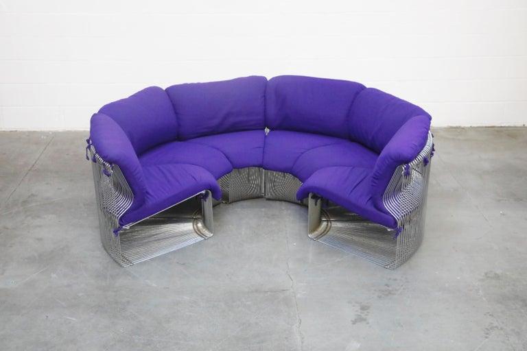 Mid-Century Modern Verner Panton 'Pantonova' Six-Piece Living Room Suite for Fritz Hansen, 1971 For Sale