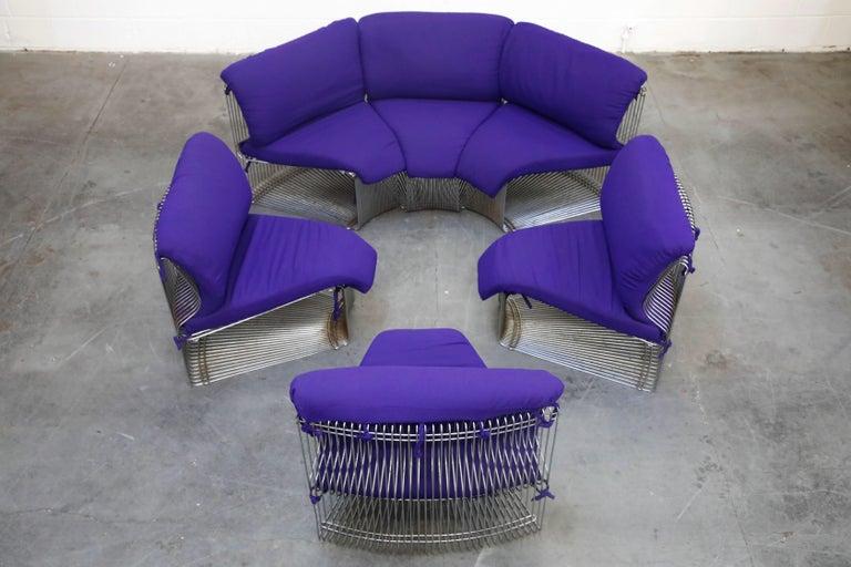 Late 20th Century Verner Panton 'Pantonova' Six-Piece Living Room Suite for Fritz Hansen, 1971 For Sale
