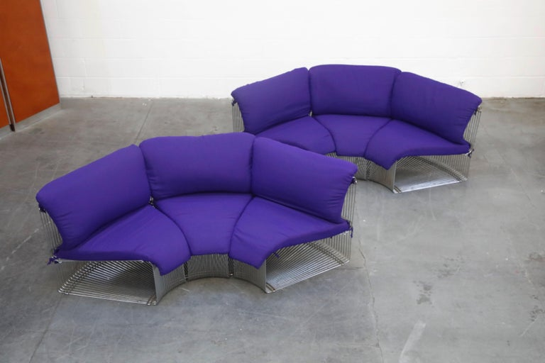 Verner Panton 'Pantonova' Six-Piece Living Room Suite for Fritz Hansen, 1971 For Sale 2