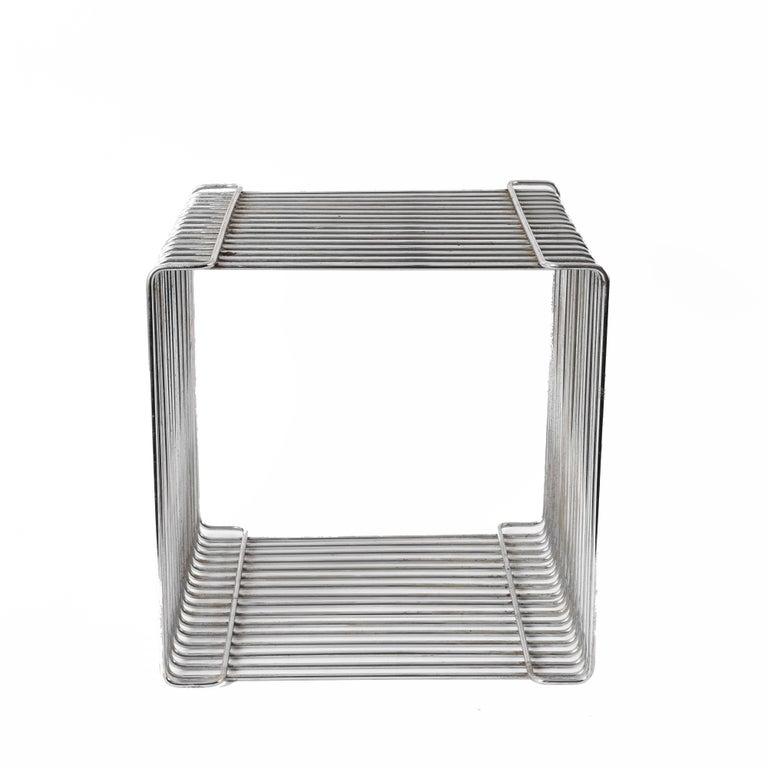 Steel Verner Panton Pantonova Wire Cube Per Fritz Hansen-Danish Montana Midcentury