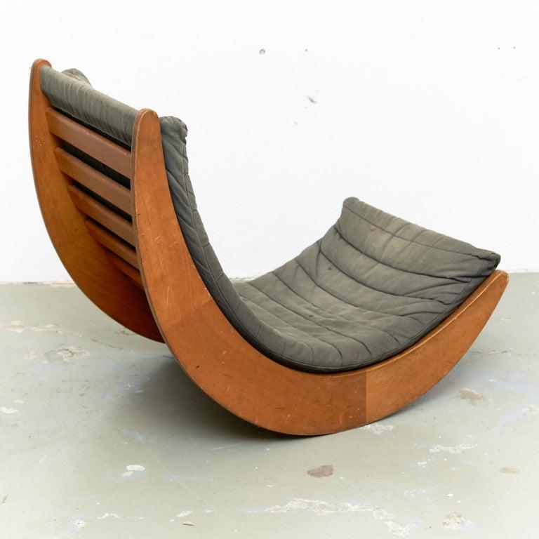 Danish Verner Panton Relaxer Chair for Rosenthal, circa 1970 For Sale