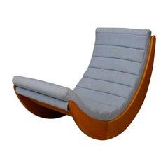 Verner Panton Rocking Chair Midcentury by Rosenthal, 1974