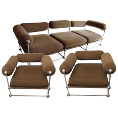Verner Panton, S 420 Serie Living Room Set of One Canapé and Two Armchairs