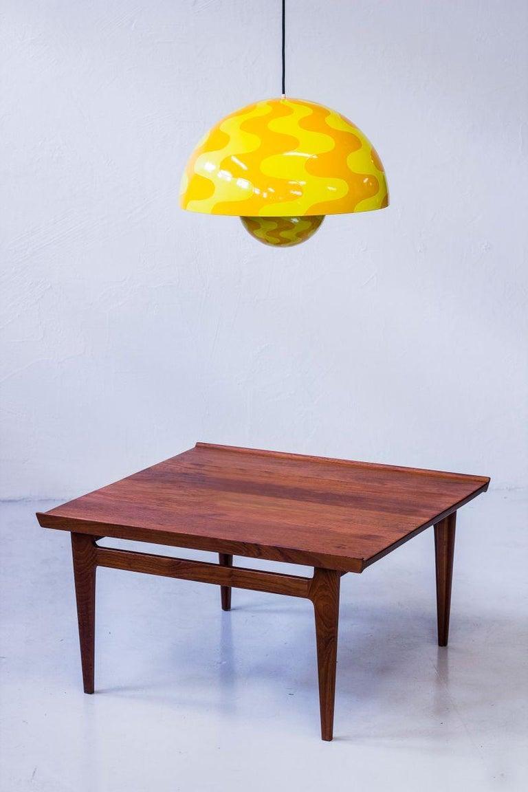 Enameled Verner Panton Flowerpot Pendant Chandelier Yellow Space Age Scandinavian Modern  For Sale