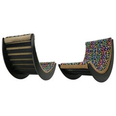 """Verner Panton Set of 2 """"Relaxer 2"""" Rocking Chairs by Rosenthal, 1970s"""