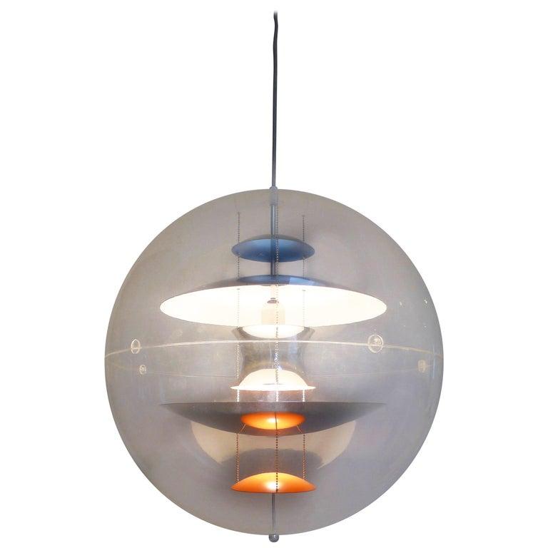 Verner Panton Vp Globe Lamp Original Production 1960s