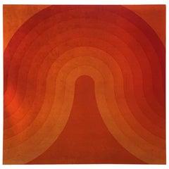 Verner Panton Wave Velvet Panel, 1970