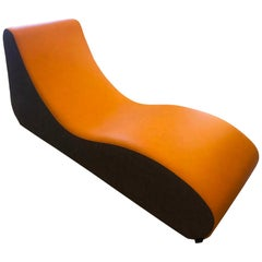 Verner Panton Welle 4 Lounge Chair Chaise, 1969, Custom Vegan Leather