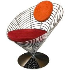 Verner Panton Wire Cone Swivel Chair Model V-8800, Fritz Hansen, 1950s