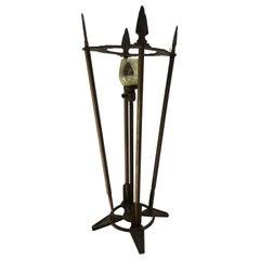 Verona Arrow Bronze Lamp with Crested Globe