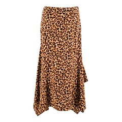 Veronica Beard Leopard Print Silk Crepe Handkerchief Skirt - Size US 4