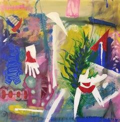 Allez cueillir le fruit sur l'arbre, Mixed Media on Canvas