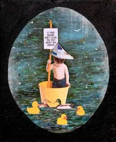 The Size Of Dreams - Little Boy, Real & Rubber Ducks, Dreaming Big, Glow in Dark