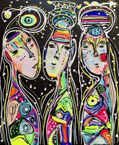 Friends 48, Painting, Acrylic on Canvas
