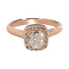 Verragio Halo Diamond Engagement Ring in 20K Rose Gold GIA E IF1.45 CTW