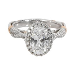 Verragio Oval Diamond Engagement Ring in Platinum GIA Certified D IF 1.84 CTW