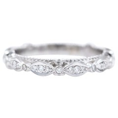 Verragio Parisian Collection Diamond Wedding Band Ring 14 Karat White Gold