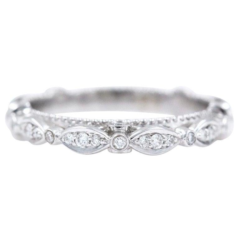 Verragio Wedding Bands.Verragio Parisian Collection Diamond Wedding Band Ring 14 Karat White Gold