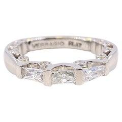 Verragio Platinum Paradiso Baguette Diamond Wedding Band Platinum