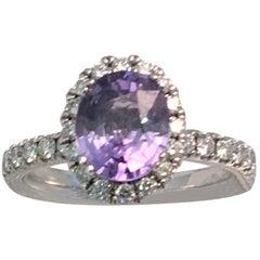 Verragio Purple Sapphire Diamond Ring