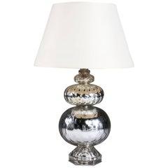 Verre Églomisé Lamp Attributed to Maison Bagues
