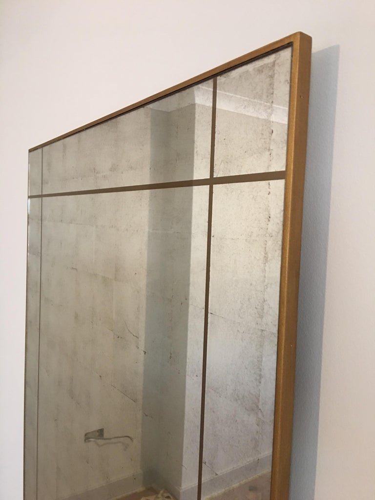 Verre Églomisé Mirror, Customisable and Made to Any Size In New Condition For Sale In Chudleigh, Devon