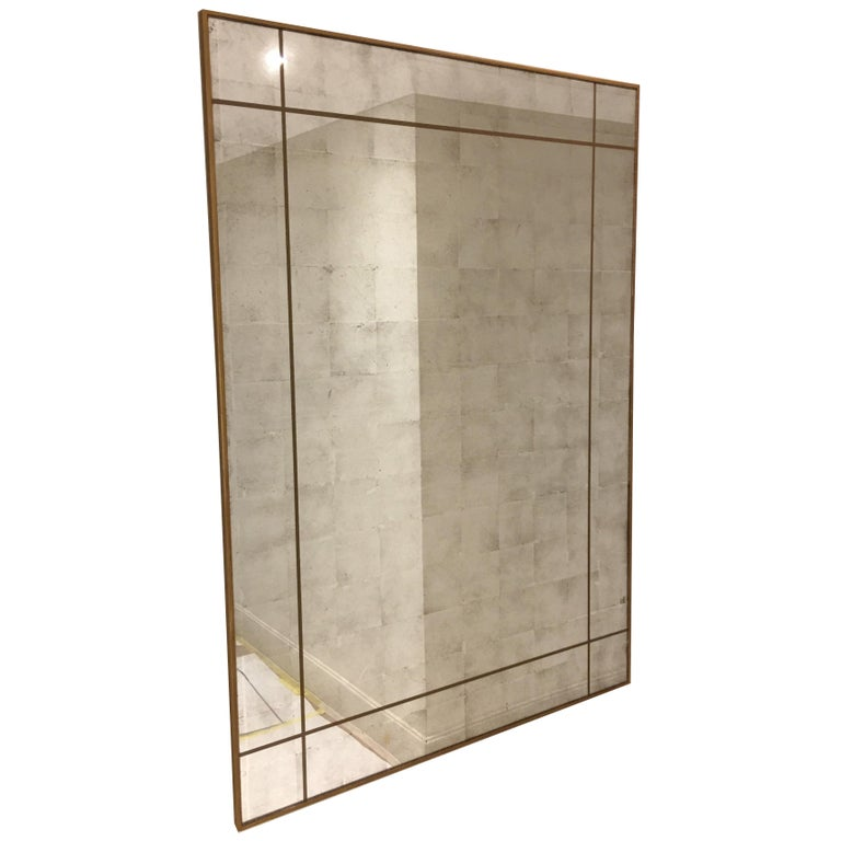 Verre Églomisé Mirror, Customisable and Made to Any Size For Sale