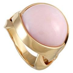 Versace 18 Karat Rose Gold and Coral Ring