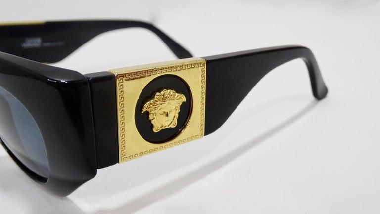 Black Versace 1980s Medusa Sunglasses  For Sale