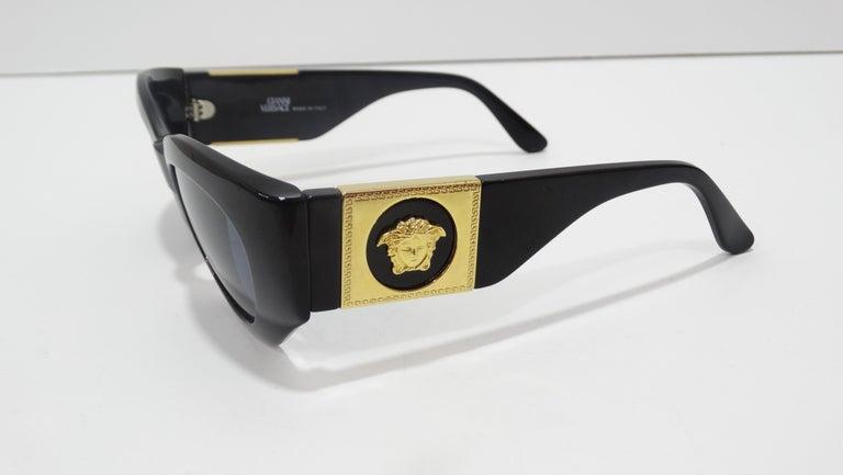 Versace 1980s Medusa Sunglasses  For Sale 3