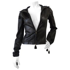 Versace 1990s Perforated Leather Jacket