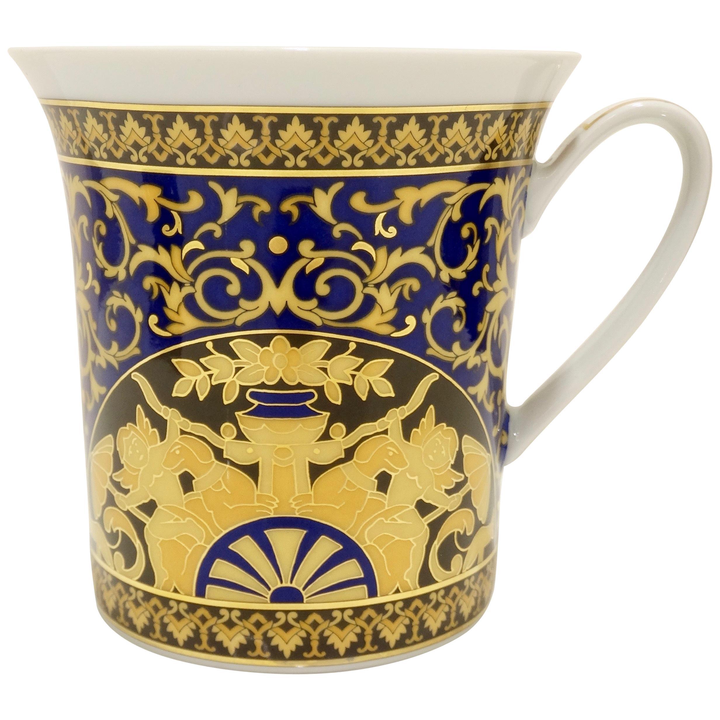 Versace 2000s Medusa Blue Porcelain Mug
