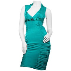 Versace 2011 Green Medusa Collection  Bustier cocktail Dress