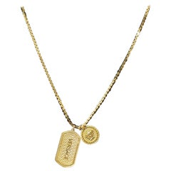 VERSACE 24K GOLD PLATED CHAIN MEDUSA Medallion