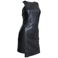 Versace Asymmetric Leather Dress
