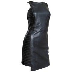 Versace Asymmetric Leather Dress