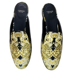 VERSACE BAROQUE MULE Sandals 36.5 - 6.5, 40.5 - 10.5