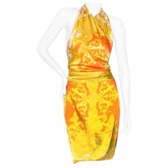 Versace Baroque Print Halted Dress SS2005