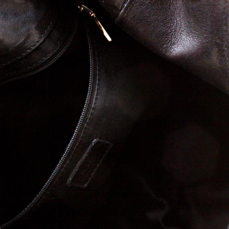 Versace Black Canvas and Leather Shoulder Bag For Sale 2