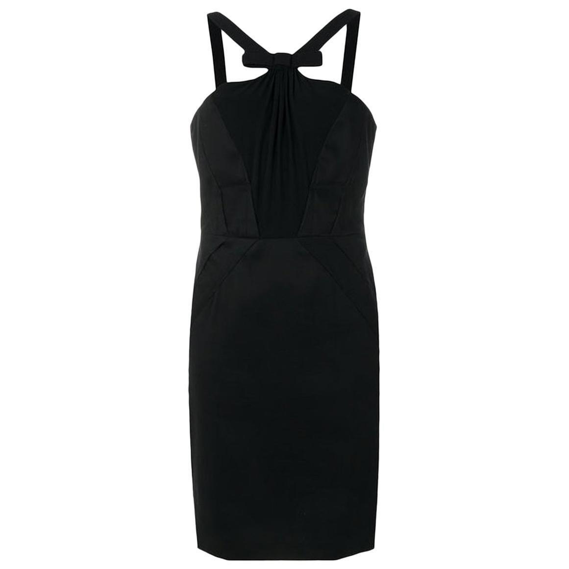 Versace Black Cocktail Silk Dress