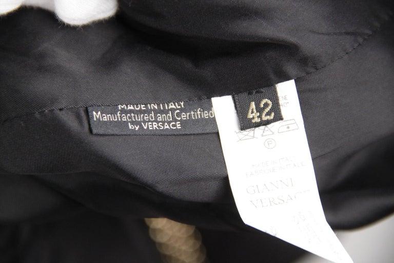 Versace Black Cotton Blend Halterneck dress with chain Strap Size 42 For Sale 4