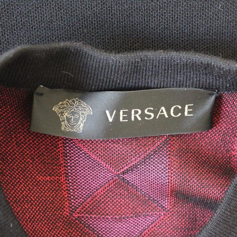 Women's Versace Black & Fuchsia Dress IT 40 For Sale
