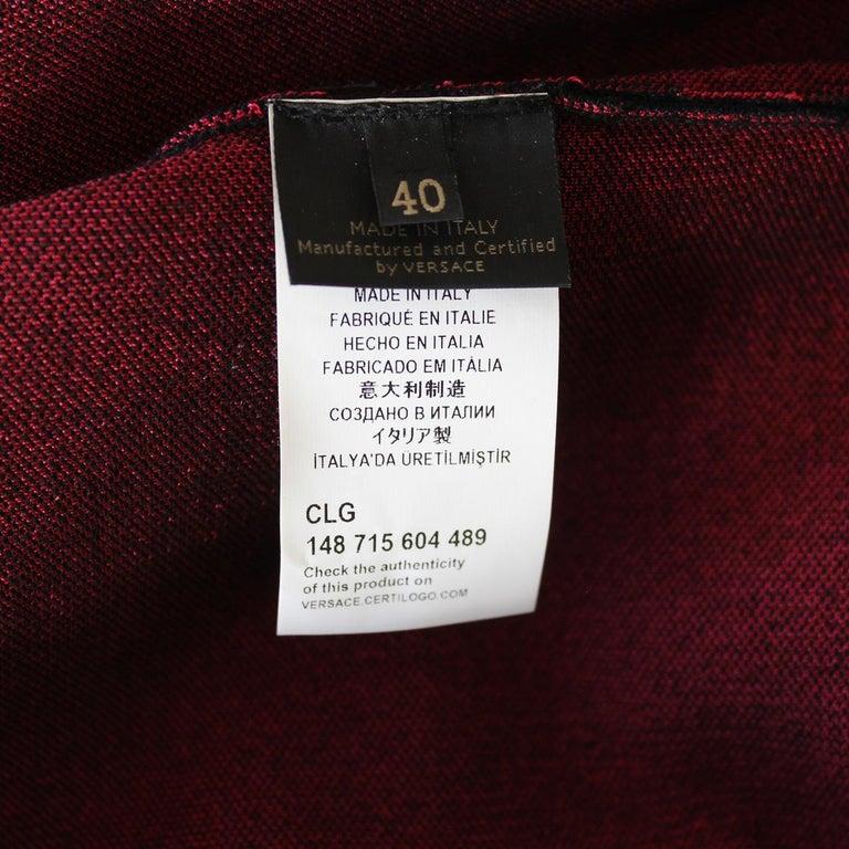 Versace Black & Fuchsia Dress IT 40 For Sale 1