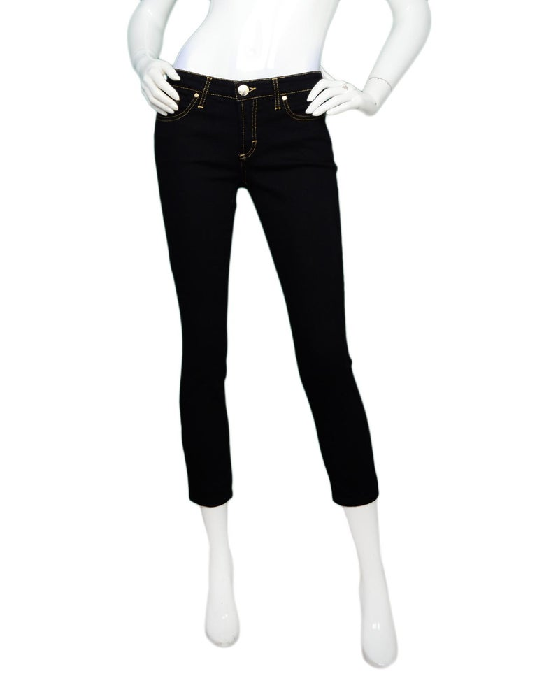 26 Best Versace Inspired Images On Pinterest: Versace Black Jeans W/ Gold Stitching And Rhinestone