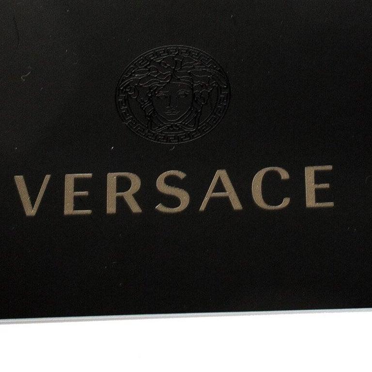 Versace Black Leather Chain Flap Shoulder Bag For Sale 4