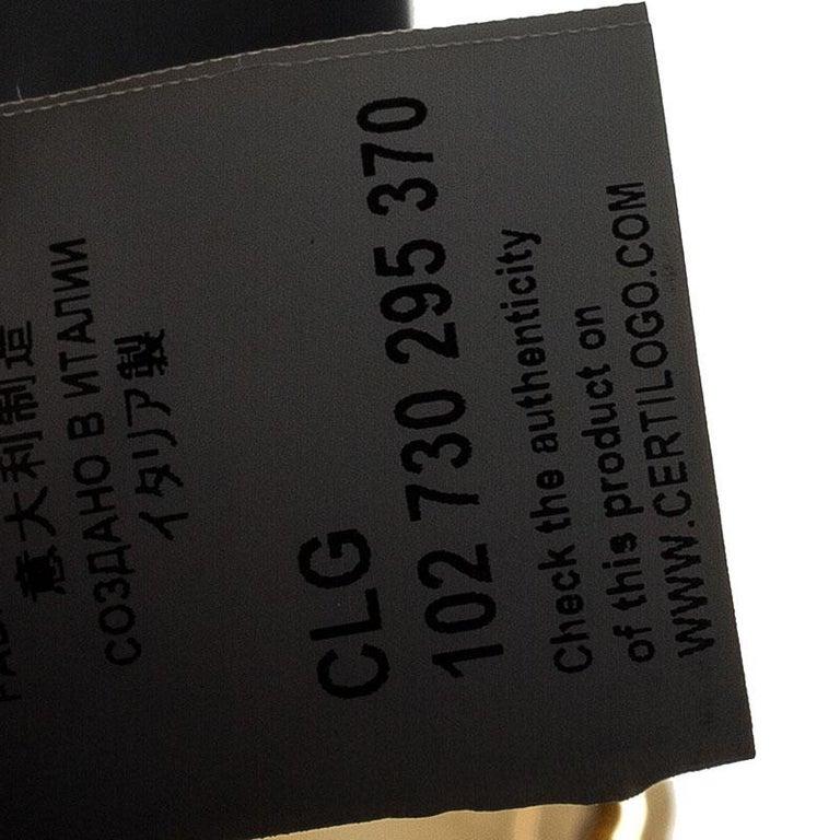 Versace Black Leather Chain Flap Shoulder Bag For Sale 5